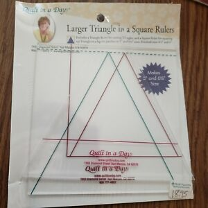 NIP Quilt in a Day Larger Triangle in a Square Rulers 2 pieces 5 to 6.5 size $13.50