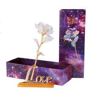 24K Gold Plated Galaxy Rose Valentines Day Birthday Mothers Day Romantic Gifts