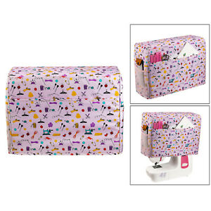 Household Quilted Sewing Machine Dust Cover With Pockets Carrying Storage $22.49