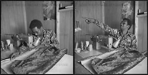 EARLY 1970S YOUNG BLACK MAN SEWING MEDIUM FORMAT Bamp;W NEGATIVES AFRICAN AMERICAN $34.95