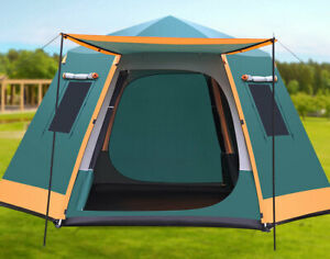 5 8 Person Double Layers Anti Hard Rain Sun Proof Camping Hiking Outdoor Tent $249.99