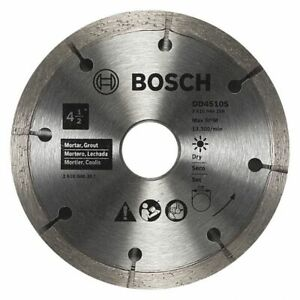 BOSCH Angle Grinders Diamond Saw Blade Mortar Materials Cut 4 1 2 in blade $25.99
