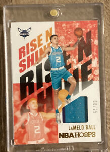 2020 21 NBA HOOPS LaMelo Ball Rookie Rise N Shine 2 Color Patch Card 8 25 SSP $800.00
