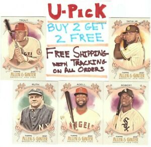 2021 Topps Allen Ginter Base Cards 1 175 RC HOF Buy 2 Get 2 FREE Ships FREE $1.29