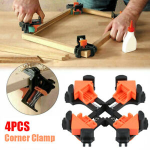 4PCS 90 Degree Right Angle Clip Clamps Corner Holders Woodworking Hand Tools $11.60