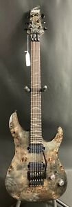 Schecter Omen Elite 6 FR Electric Guitar Burled Charcoal Finish $549.00