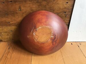 FINE ANTIQUE WOODEN BOWL With RED PAINT Antique Wooden Bowl $130.00