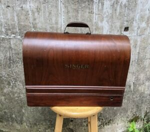 Singer Sewing Machine Wood Wooden Bentwood Box Case Carrying Portable Empty Only $199.95