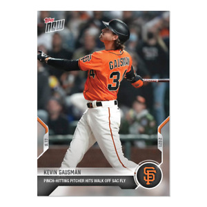 2021 TOPPS NOW #820 KEVIN GAUSMAN SAN FRANCISCO GIANTS PITCHER WITH WALK OFF