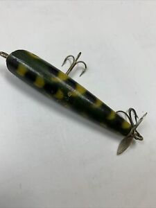 """Vintage Baby Dalton Special St. Pete Wood Frog Spot Topwater 3"""" Long"""