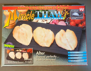 New 1995 The Original MIRACLE THAW JR. Defrosting Tray As Seen On TV READ INFO