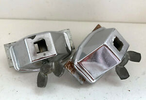 LUDWIG 60s Vtg Small Curved Spur Bass Kick Drum Leg Bracket Mount Parts Lot of 2 $25.00