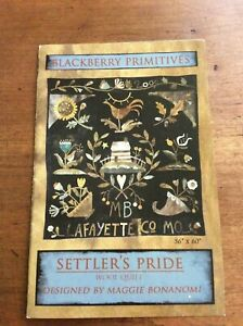 Settler#x27;s Pride Wool Applique Quilt Pattern and Wool Kit by Maggie Bonanomi $350.00