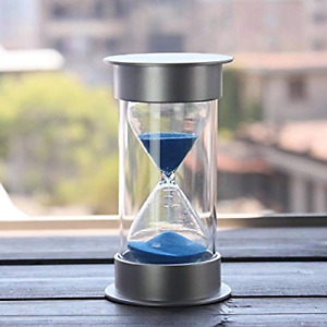 15 Minutes HourglassSiveit Modern Sand Timer with Blue Sand for Mantel Office $8.95