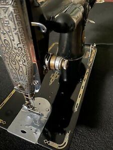 SINGER SEWING MACHINE MODEL 201 2 FULLY SERVICED SEWS LEATHER $350.00