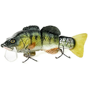 MATTLURES Strong Perch Billed Wake Bait Floating Multi Jointed Swimbait 6.75quot;