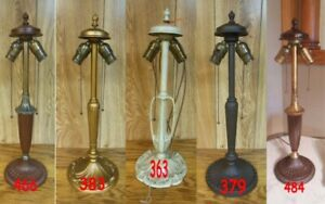 ANTIQUE PITTSBURGH LAMP BASE FOR REVERSE PAINTED LAMP $179.00