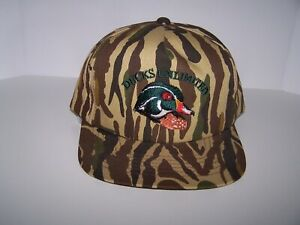 ducks unlimited hat camo with wood duck