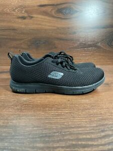 Women's Skechers Work Black Slip Resistant Shoes Size 8.5 Relaxed Fit