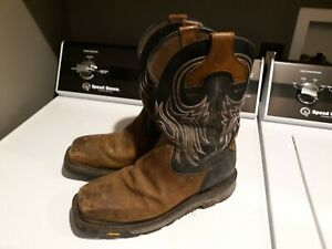 Justin 12D Steel Toe ASTM F2413 11 Style Wk2104 Pull On Boots