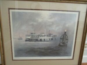 Star Ferry by John Kelly Signed amp; Numbered Framed Lithograph Print 26quot; x 20quot; $225.00