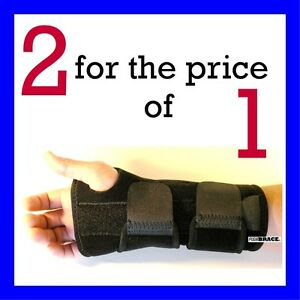 2 FDA APPROVED Wrist Hand Brace Carpal Tunnel Support Splint Band By Flexibrace