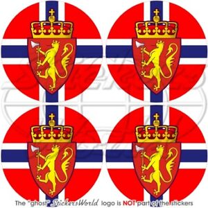 NORWAY Norwegian 2 50mm Bumper Helmet Stickers x4