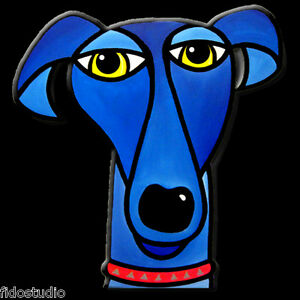 Pop Art dog ABSTRACT Wall Hanging PAINTING Contemporary SCULPTURE FIDOSTUDIO $425.00
