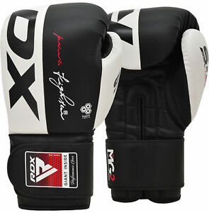 Auth RDX Leather Gel Boxing Gloves FightPunch Bag MMA Muay thai Grappling Pad M