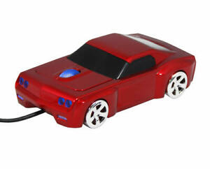 Street Mouse Bullet V8 Car Wired Computer Mouse - Red