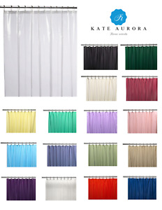 Hotel Heavy Duty 10 Gauge Vinyl Shower Curtain Liners - Assorted Colors