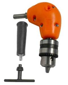 Right Angle Drill Attachment Chuck Adapter Electric Power Cordless 3 8 90 Degree $13.75