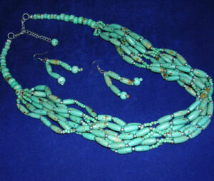 Turquoise Howlite Necklace & Earring Set