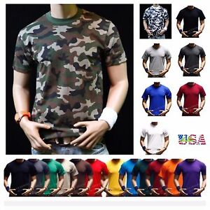 Men HEAVY WEIGHT T Shirt Plain Crew Neck Fashion Casual Hipster GYM BIG AND TALL $9.99