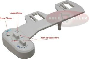 FRESH WARM HOT WATER NON ELECTRIC ADJUSTABLE ANGLE BIDET TOILET ATTACHMENT $39.99