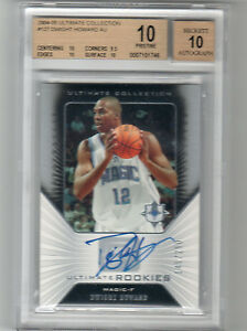 2004 05 ULTIMATE GOLD DWIGHT HOWARD AUTO RC BGS 10 PRISTINE W 10 # 250 POP 1 $1340.00