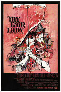 AUDREY HEPBURN in MY FAIR LADY movie poster george cukor 1964 24X36 hot new- PW0
