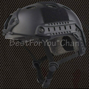 Tactical Airsoft Paint Ball Bicycle Light Weight Emerson Fast PJ Helmet Black
