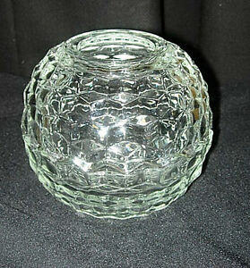 homco glass rose bud vase in the cubed