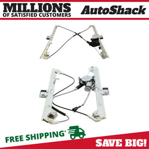 Front Power Window Regulator with Motor Pair 2 for Chevy Silverado 1500 Tahoe V8 $61.38