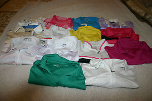 14 GOLF SHIRTS SHORT SLEEVE UNDER ARMOUR NIKE ADIDAS IZOD SMALL MEDIUM WOMEN