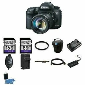 Canon EOS 7D Mark II 20.2MP Digital SLR Camera w18-135mm Lens 24GB Complete Kit