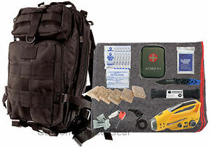 72 Hour Emergency Prep Kit - Food Water First Aid & More - Disaster Bug Out Bag
