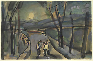 Georges Rouault Reproduction: Three Figures in Moonlight - Fine Art Print