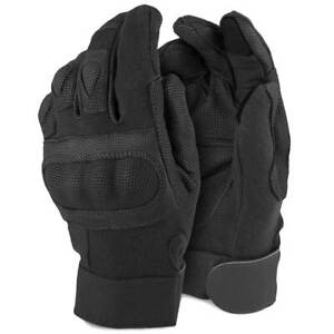 Rhyno Combat Tactical Military Army Touchscreen Knuckle Gloves Black with Kevlar