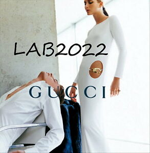GUCCI TOM FORD '96 WHITE JERSEY DRESS + THONG GOWN RARE 38