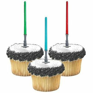 Star Wars Light Sabers Cake Cupcake Topper Food Picks Party Decorations