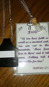 Blessed Mustard Seed Bottle Charm Necklace BIG SALE Going On Now $7.99