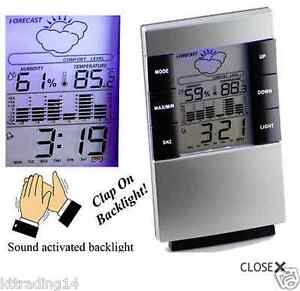 NEW Weather Forecast Clock LCD Display Temperature Thermometer Humidity