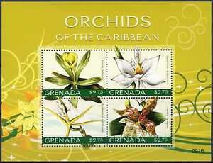 Grenada 2010 Orchids Of The Caribbean Flowers MNH Sheet #A89031 GBP 4.99